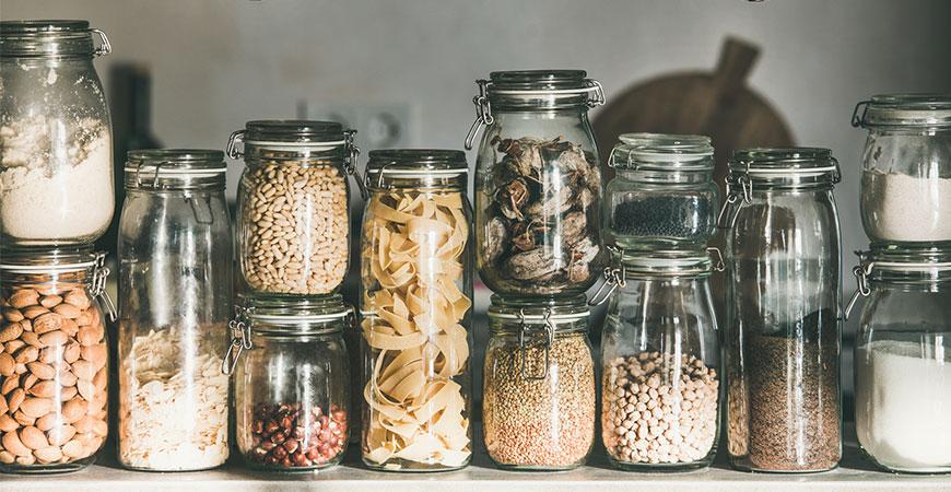 Rustic kitchen food storage